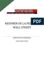 Resumen de la película Wall Street