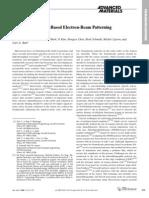 Parijat Bhatnagar, Sonny S. Mark, Il Kim, Hongyu Chen, Brad Schmidt, Michal Lipson, and Carl A. Batt- Dendrimer-Scaffold-Based Electron-Beam Patterning of Biomolecules