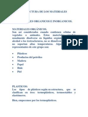 Estructura De Los Materiales Organicos E Cos Cristal Carbón