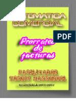 MATEMATICA Comercial REGLA de PRORRATEO