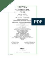 Uniform Commercial Code 2010-2011 Ed