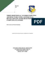 Sergey Lyshevski, Vlad Shmerko, Svetlana Yanushkevich and Marina Lyshevski- Three-Dimensional Nanobiocomputing Architectures With ℵ-Hypercells