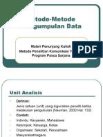 metode-metode pengumpulan data