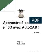 408696 Apprendre a Dessiner en 3d Avec Autocad
