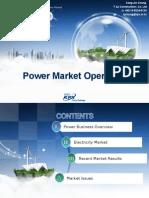Power market operation-발표