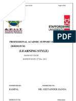 Pas Assignment No.2 Learning Style 2011