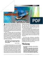 Rebuilding the Broken Walls (Disciple Indeed, August 2011)