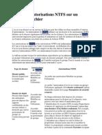 Partage Et Autorisations NTFS Sur Un Serveur de Fichier
