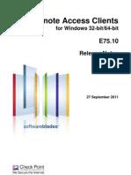 CP E75.10 Remote Access Clients Releasenotes