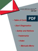 Lexmark 3200 (4097) Color Jet Printer Service Manual