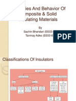 Properties and Behavior of Composite Solid Insulating Materials