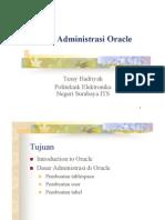 31Dasar Administrasi Oracle