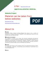 Worksheet for Medical College