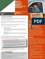Advanced Certificate in Emergency Dispatch & Control Centre Operations 28 February - 01 March 2012, Dubai