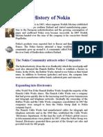 History of Nokia