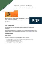 6 Lesson Jamorama Free Course