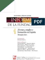 Jóvenes, empleo y formación en España. Mensajes clave