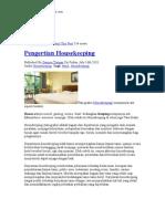 Artikel Housekeeping
