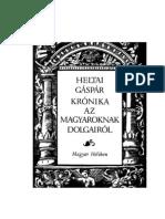 54415893 Heltai Gaspar Kronika Az Magyaroknak Dolgairol