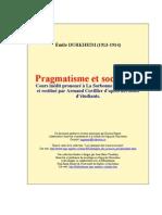 Pragmatisme y Sociologie E Durkheim
