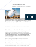 motor Stirling en aplicaciones de energía solar