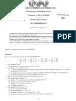 Maths HEC 2011