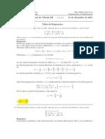 Examen Final, Cálculo III, 15 de diciembre de 2011