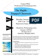 The Highly Engaged Classroom Flier
