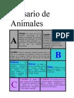 Glosario de Animales
