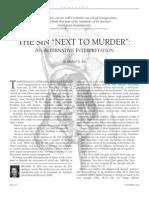 The Sin _Next to Murder__ an Alternative Interpretation