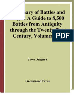 Dictionary of Battles & Sieges