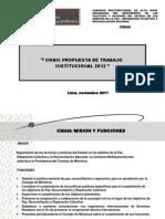 Propuesta de Trabajo Institucional 2012 Final