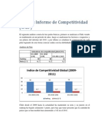 Análisis Informe de Competitividad