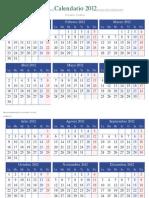 Calendario 2012