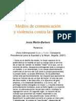Medios de comunicación y violencia contra la mujer