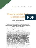 Pensar la sociedad desde la comunicación - Ponencia para Felafacs