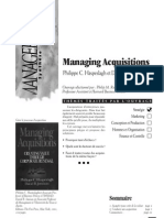 36 Managing Acquisitions