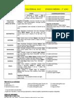 Lista de Material 2012-2ª ano