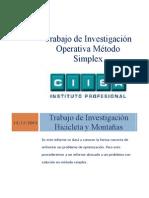 Trabajo de Investigación Operativa Método Simplex