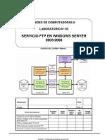Lab 03 - Servicio FTP en Windows