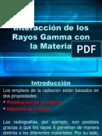 Interacción de los Rayos Gamma con la Materia