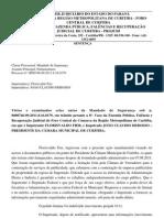 Sentença do mandado de seguranca (Dr.Rosinha x Derosso/Câmara de Curitiba)