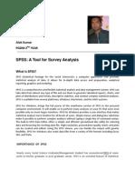 Tool for Survey Analysis