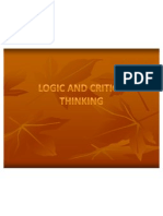 Logic and Critical Thinking