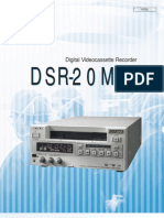 Sony Digital Videocassette Recorder Dsr-20md