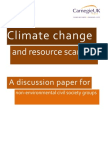 Climate change and resource scarcity