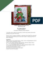 RRA 2011 Holiday Glitz Edition Digital Stamp Drummer Boy Christmas Card by Peggie Wilkins