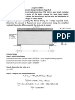 Design of Deep Beam by Strut and Tie Method and Fluxural Theory - Civil Engineering Ryerson Assignment 3-b