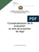 Conceptualizacion Evaluacion Ex Ante Proyectos 2011_lcg