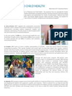 Maternal and Child Health December Report